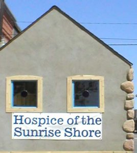 Stained glass windows custom made for the Hospice House.  Hand made.