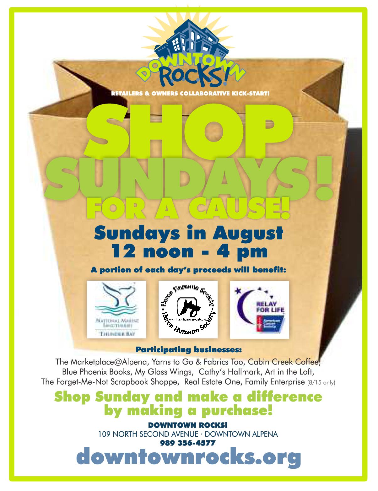 shop sundays flyer